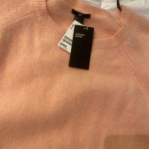 Light pink Fuzzy H&M sweater